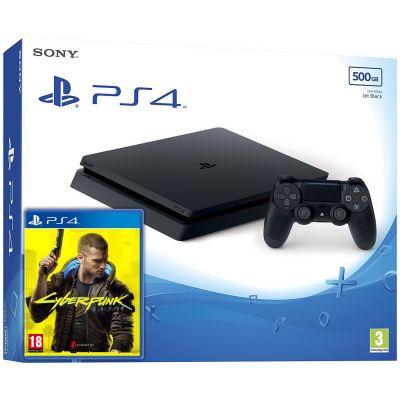 Sony Playstation 4 Slim 500Gb + Cyberpunk 2077 (русская версия)