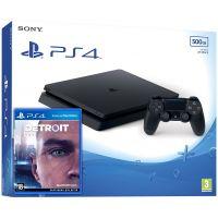 Sony Playstation 4 Slim 500Gb + Detroit: Стать человеком (русская версия)