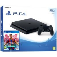 Sony Playstation 4 Slim 500Gb + eFootball Pro Evolution Soccer 2021 (русская версия)