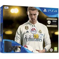 Sony Playstation 4 Slim 500Gb + FIFA 18 (русская версия) + DualShock 4 (Version 2) (black)