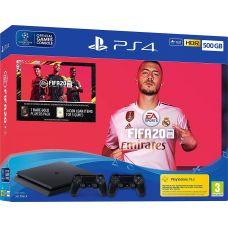 Sony Playstation 4 Slim 500Gb + FIFA 20 (русская версия) + DualShock 4 (Version 2) (black)