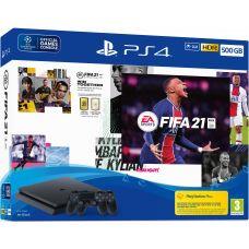 Sony Playstation 4 Slim 500Gb + FIFA 21 (русская версия) + DualShock 4 (Version 2) (black)