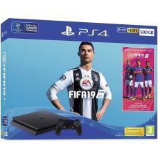 Sony Playstation 4 Slim 500Gb + FIFA 19 (русская версия)