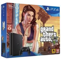 Sony Playstation 4 Slim 500Gb + GTA V (русская версия)
