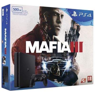 Sony Playstation 4 Slim 500Gb + Mafia III (русская версия)