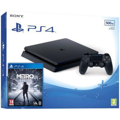 Sony Playstation 4 Slim 500Gb + Metro Exodus / Исход (русская версия)
