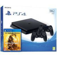 Sony Playstation 4 Slim 500Gb + Mortal Kombat 11 (русская версия) + DualShock 4 (Version 2) (black)