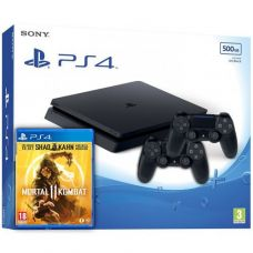 Sony Playstation 4 Slim 500Gb + Mortal Kombat 11 (русская версия) + DualShock 4 (Version 2) (black)