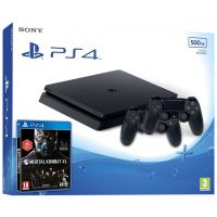 Sony Playstation 4 Slim 500Gb + Mortal Kombat XL (русская версия) + DualShock 4 (Version 2) (black)