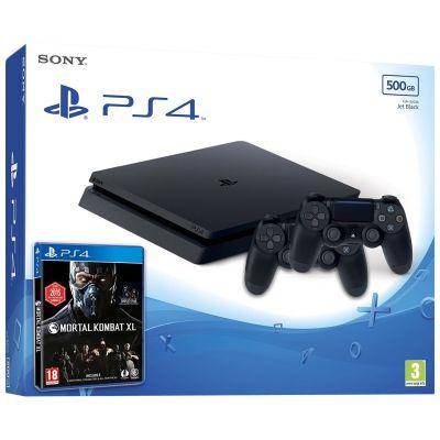 Sony Playstation 4 Slim 500Gb + Mortal Kombat XL (русская версия) + DualShock 4 (Version 2) (black)