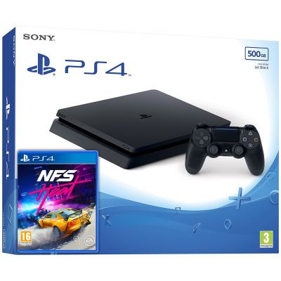Sony Playstation 4 Slim 500Gb + Need for Speed Heat (русская версия)