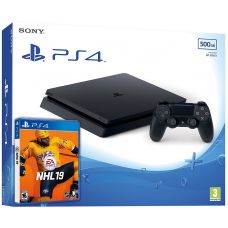 Sony Playstation 4 Slim 500Gb + NHL 19 (русская версия)