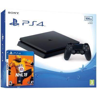 Sony Playstation 4 Slim 500Gb + NHL 19 (русская версия)