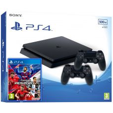Sony Playstation 4 Slim 500Gb + Pro Evolution Soccer 2020 (eFootball) (русская версия) + DualShock 4 (Version 2) (black)