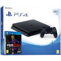 Sony Playstation 4 Slim 500Gb + Pro Evolution Soccer 2019 (русская версия)