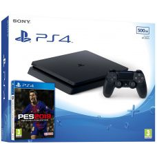 Sony Playstation 4 Slim 500Gb + Pro Evolution Soccer 2019 (русская версия)
