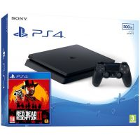 Sony Playstation 4 Slim 500Gb + Red Dead Redemption 2 (русская версия)
