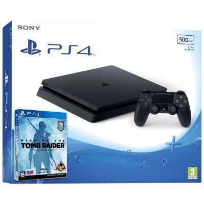 Sony Playstation 4 Slim 500Gb + Rise of The Tomb Rider (русская версия)