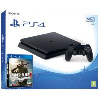 Sony Playstation 4 Slim 500Gb + Sniper Elite 4 (русская версия)