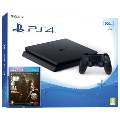 Sony Playstation 4 Slim 500Gb + The Last of Us (русская версия)