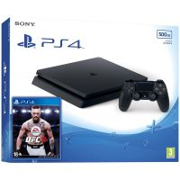 Sony Playstation 4 Slim 500Gb + UFC 3 (русская версия)