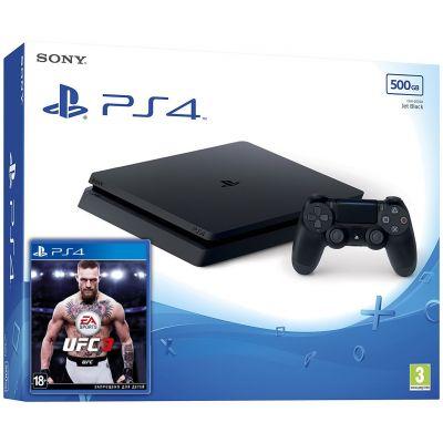 Sony Playstation 4 Slim 500Gb + UFC 3 (русская версия)