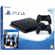 Sony Playstation 4 Slim 500Gb + UFC 4 (русская версия) + DualShock 4 (Version 2) (black)