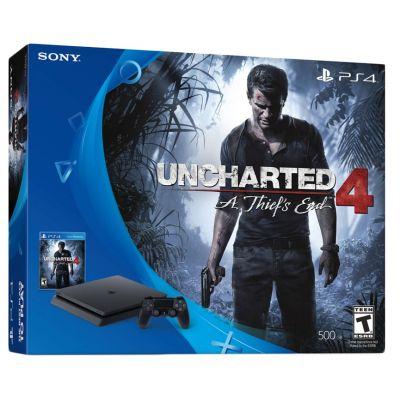 Sony Playstation 4 Slim 500Gb + Uncharted 4 (русская версия)