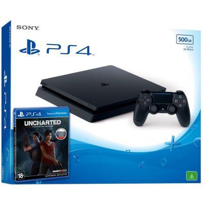 Sony Playstation 4 Slim 500Gb + Uncharted: Утраченное наследие (русская версия)