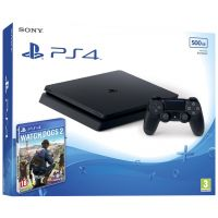 Sony Playstation 4 Slim 500Gb + Watch Dogs 2 (русская версия)