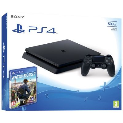 Sony Playstation 4 Slim 500Gb + Watch Dogs 2 (русская версия)