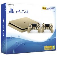 Sony Playstation 4 Slim 500Gb Gold + DualShock 4 (Version 2) (gold)