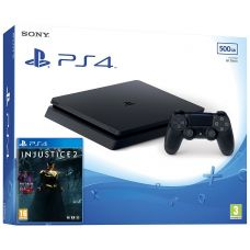 Sony Playstation 4 Slim 500Gb + Injustice 2 (русская версия)