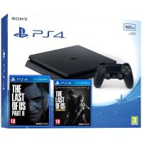 Sony Playstation 4 Slim 500Gb + The Last of Us + The Last of Us Part II (русская версия)