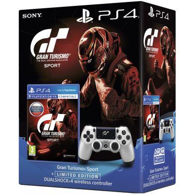 Gran Turismo Sport. Day One Edition (русская версия) (PS4) + Sony DualShock 4 Version 2 Limited Edition (Gran Turismo Sport)