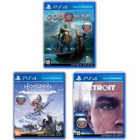 Horizon: Zero Dawn. Complete Edition + Detroit: Become Human + God of War IV (русские версии) (PS4) Exclusive Games Bundle 3