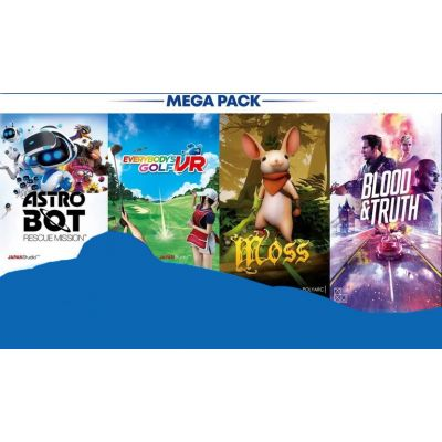 Mega Pack 2020: Astro Bot Rescue Mission + Everybody's Golf VR + Moss + Blood & Truth VR (ваучер на скачивание) (русская версия) (PS4)