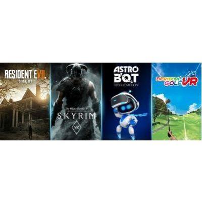 Mega Pack 2019: Resident Evil VII Biohazard + Everybody's Golf VR + The Elder Scrolls V: Skyrim + Astro Bot Rescue Mission VR (ваучер на скачивание) (русская версия) (PS4)