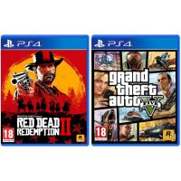 Red Dead Redemption 2 + GTA V (русские версии) (PS4) Rockstar Bundle