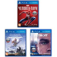 Spider-Man + Horizon Zero Dawn Complete Edition + Detroit: Become Human (русские версии) (PS4) Exclusive Games Bundle 5