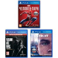 Spider-Man + The Last of Us + Detroit: Become Human (русские версии) (PS4) Exclusive Games Bundle 4