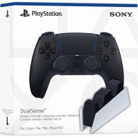 Sony DualSense (Midnight Black) + Зарядная станция Sony DualSense Charging Station