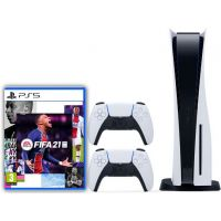 Sony Playstation 5 White 1Tb + FIFA 21 (русская версия) + DualSense (White)