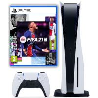 Sony Playstation 5 White 1Tb + FIFA 21 (русская версия)