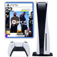 Sony Playstation 5 White 1Tb + UFC 4 (русская версия)