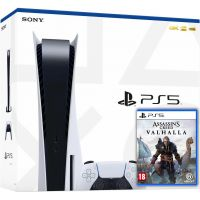 Sony Playstation 5 White 825Gb + Assassin's Creed Valhalla\Вальгалла (русская версия)