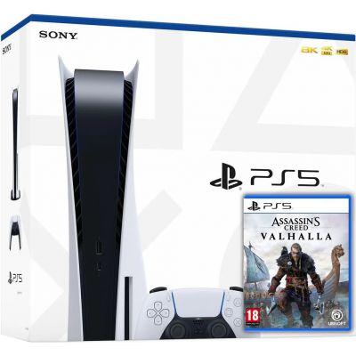 Sony Playstation 5 White 825Gb + Assassin's Creed Valhalla Вальгалла (русская версия)