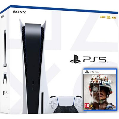 Sony Playstation 5 White 825Gb + Call of Duty: Black Ops Cold War (русская версия)