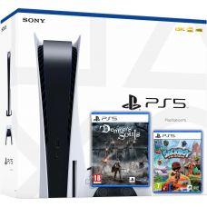 Sony PlayStation 5 White 825Gb + Demon's Souls (русская версия) + Sackboy: A Big Adventure (русская версия)