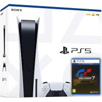 Sony Playstation 5 White 825Gb + Gran Turismo 7 (русская версия)
